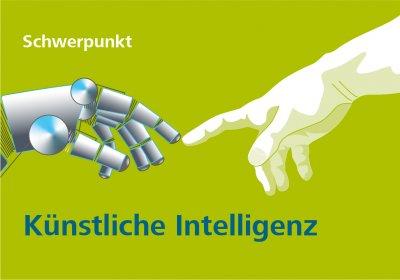 Titelgrafik zur Talente-Ausgabe 2_19 mit dem Schwerpunkt Künstliche Intelligenz in der Personalarbeit
