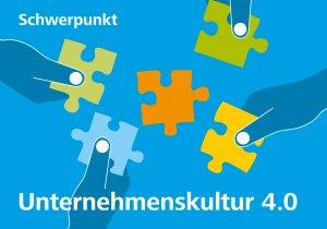Titelgrafik zur Talente-Ausgabe 3_19 mit dem Schwerpunkt Unternehmenskultur 4.0