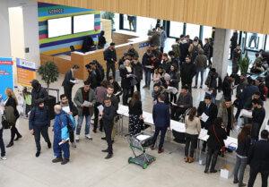 """Einlass Jobmesse """"Ausländische Fachkräfte und Azubis finden"""", IHK Region Stuttgart 1. Februar 2019. Fotonachweis: @IHK Region Stuttgart/Hörner"""
