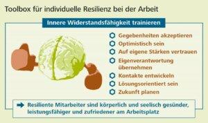 Toolbox für individuelle Resilienz bei der Arbeit, Grafik: WRS
